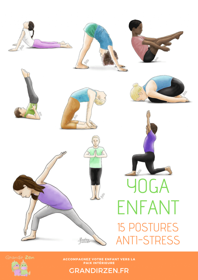 15 postures antistress yoga enfant