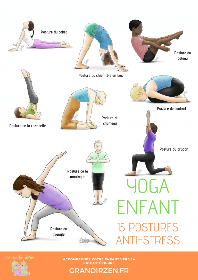 15 postures anti-stress yoga enfant