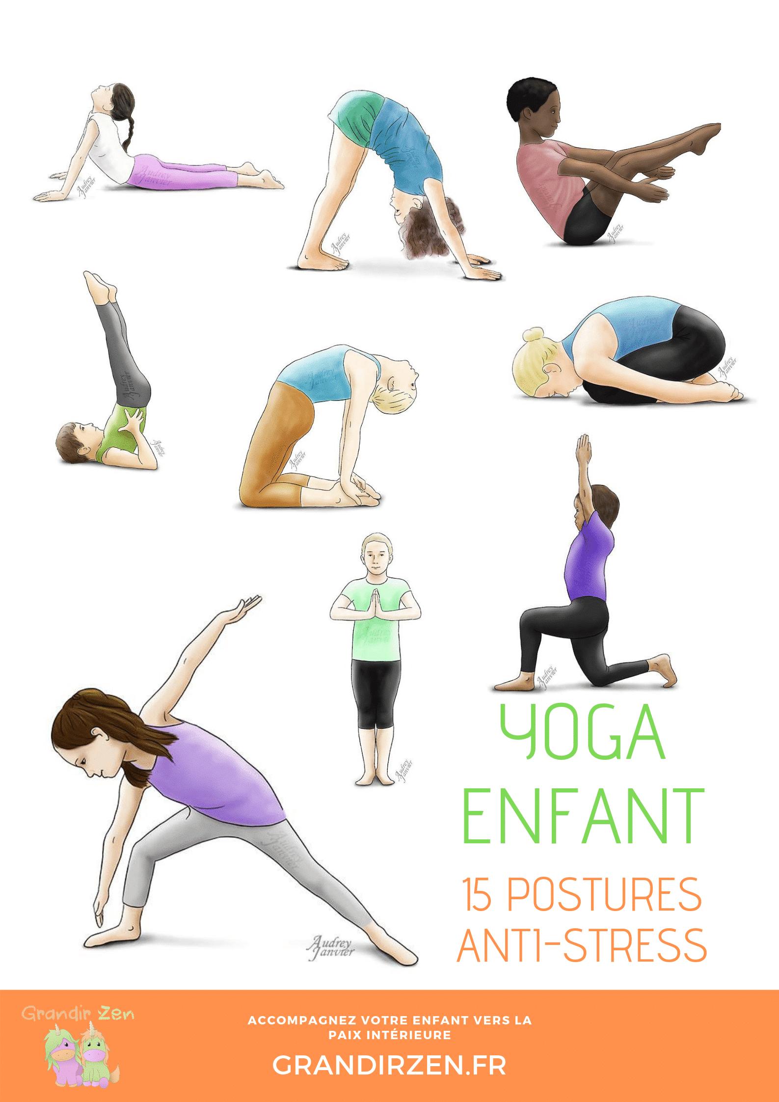 15 postures antistress yoga enfant