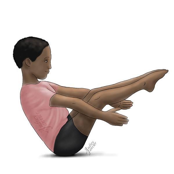 yoga pour enfant posture bateau