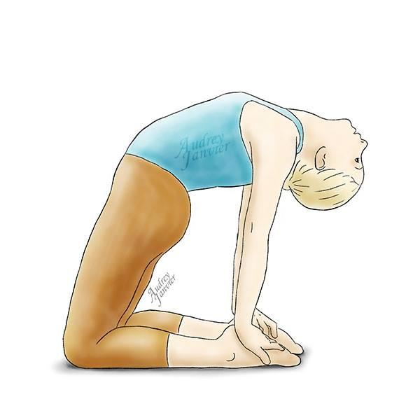 posture chameau yoga enfant