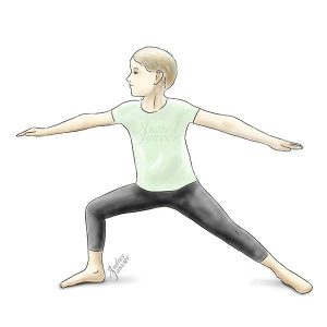 yoga enfant grandir zen posture guerrier