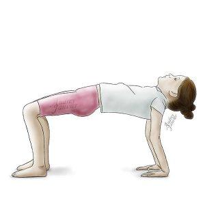 posture yoga enfant le pont