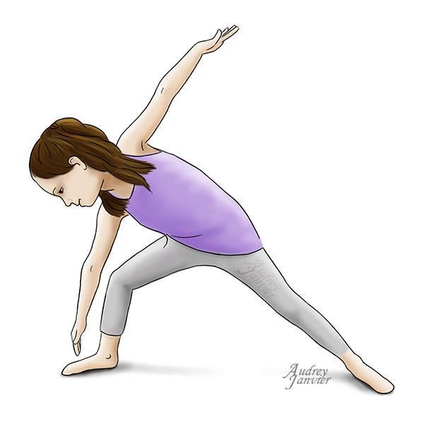 Posture yoga enfant triangle