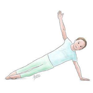 yoga enfant posture de la flèche