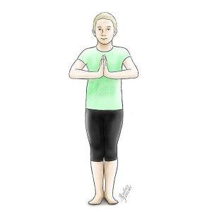 yoga pour enfant montagne