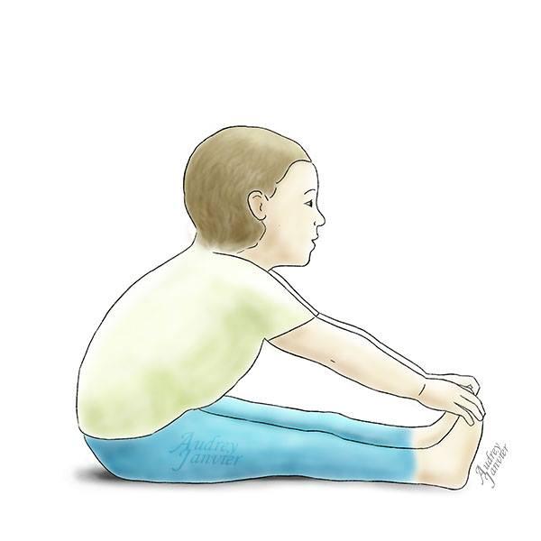 yoga enfant posture rivière