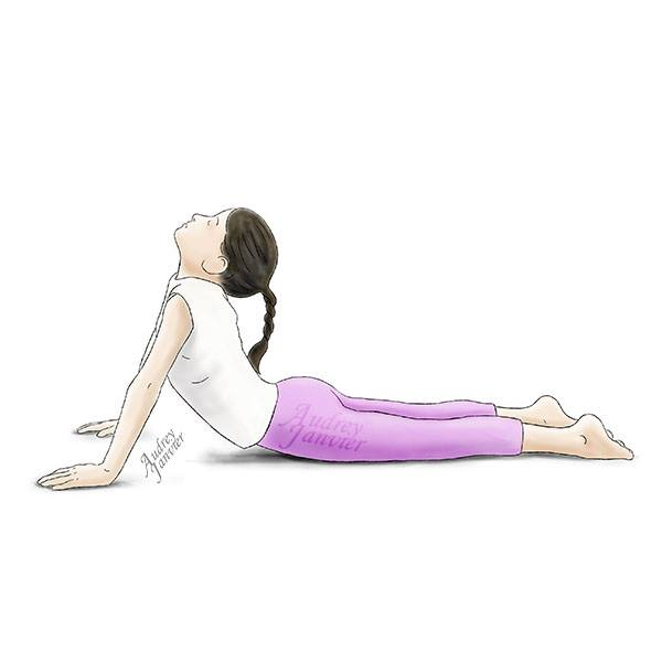 Posture du cobra yoga pour enfant