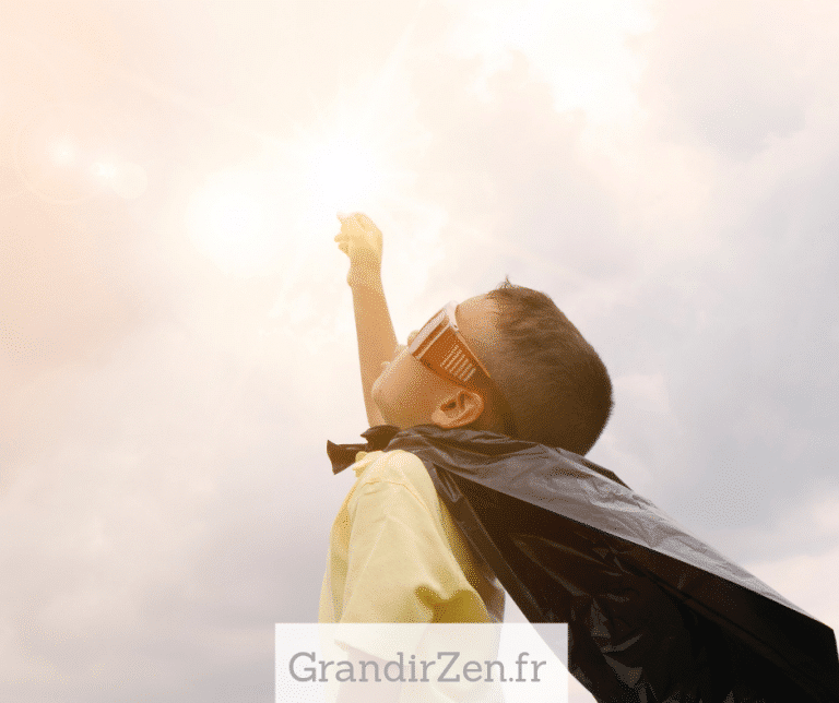 Tableau de visualisation positive pour enfant, confiance en soi
