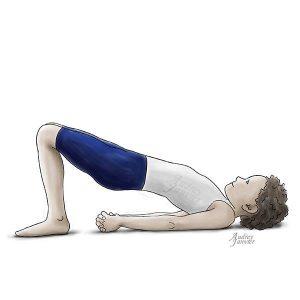 yoga enfant posture demi-pont