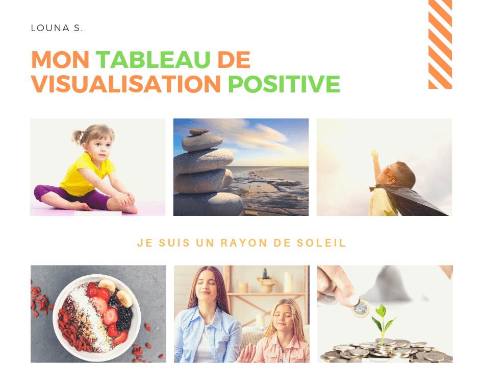 Vision board enfant ou tableau de visualisation positive, nombreuses images à imprimer pour créer son tableau sur-mesure