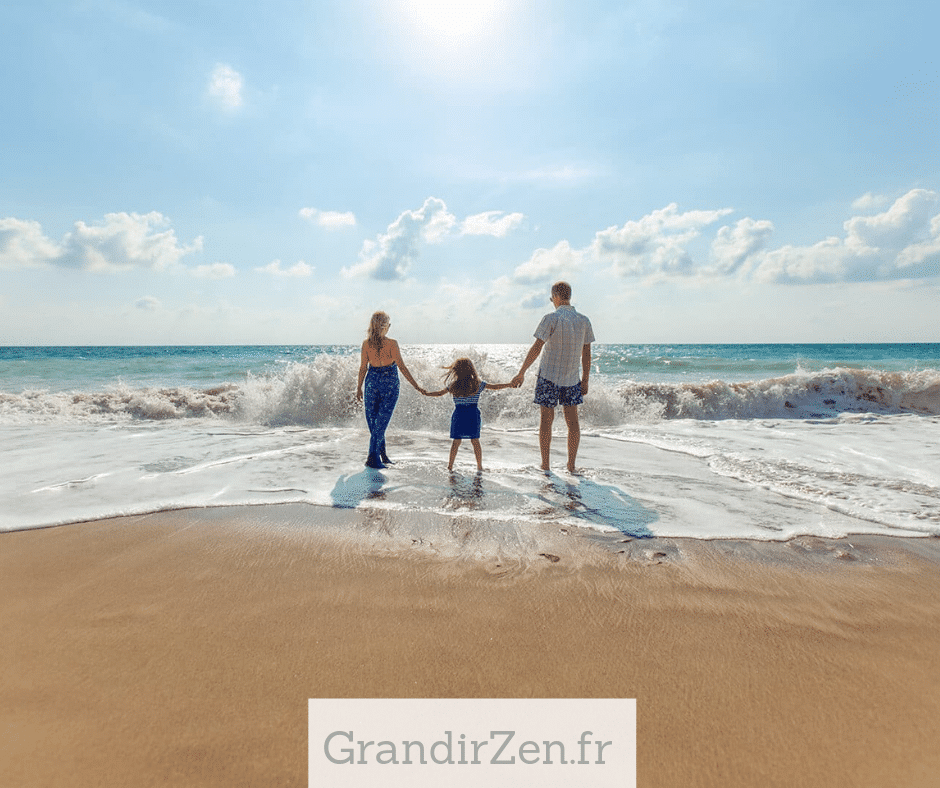Tableau visualisation positive pour enfant, image d'une famille zen à mettre sur son tableau
