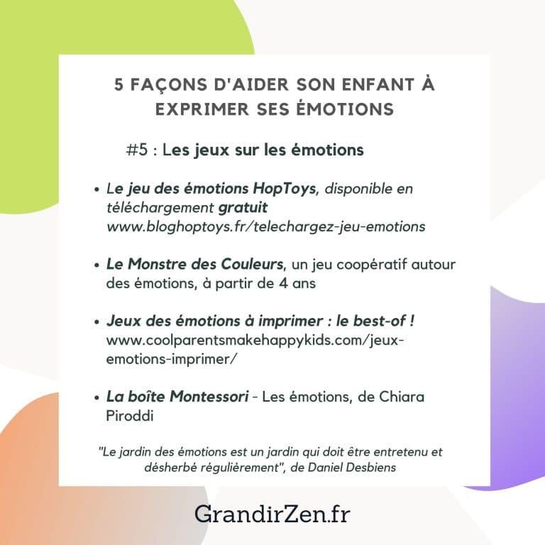 gestion des émotions jeux