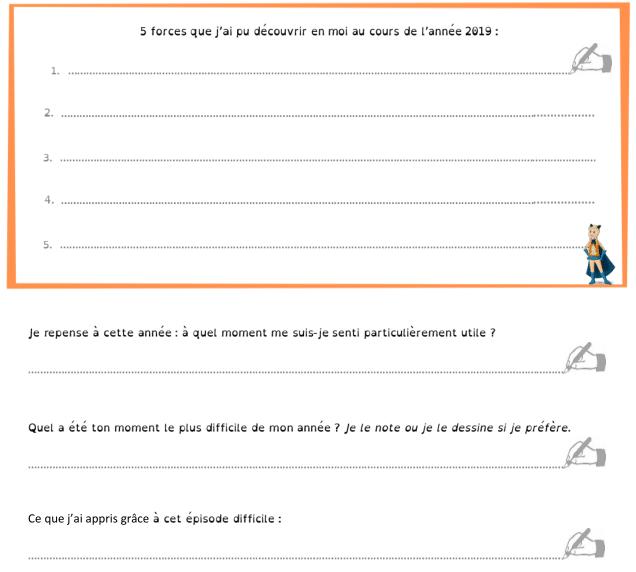 Bilan 2019 enfant extrait du livret PDF : mes forces