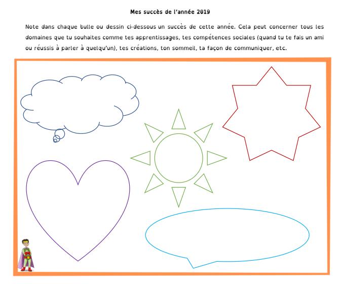 Bilan 2019 enfant extrait du livret PDF : mes succès