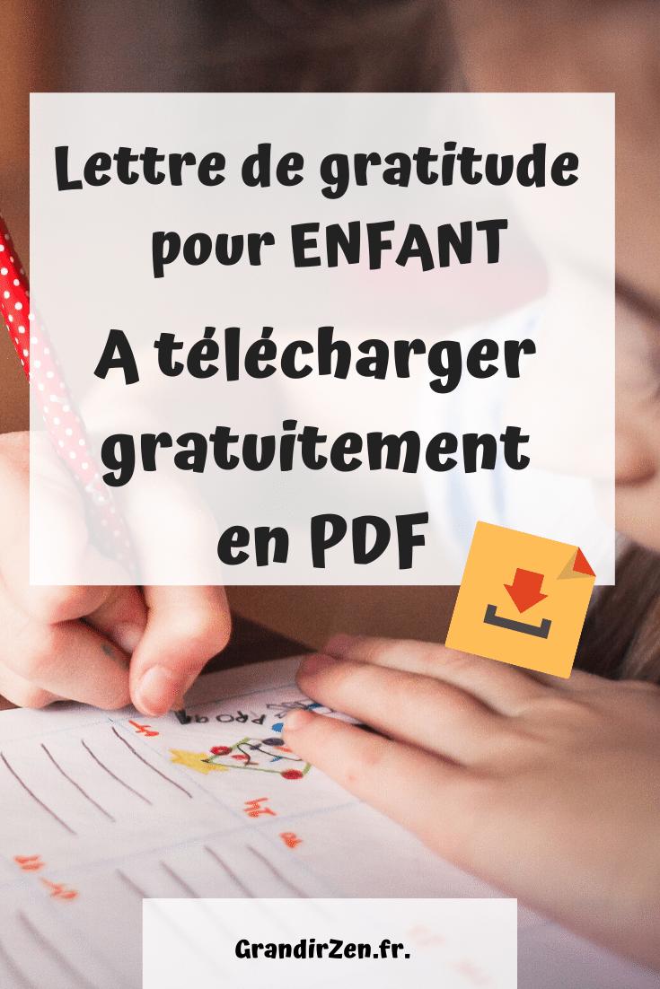 Modèle de lettre de gratitude vierge à télécharger gratuitement pour les enfants