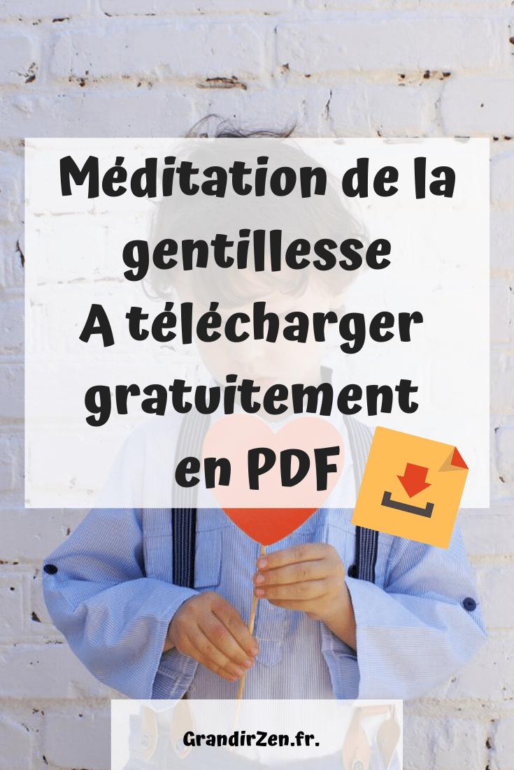 Méditation de la gentillesse, à télécharger gratuitement et imprimer
