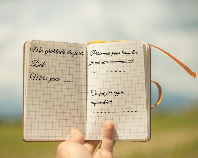 Journal de gratitude pour enfant ; mode d'emploi et modèle en téléchargement gratuit