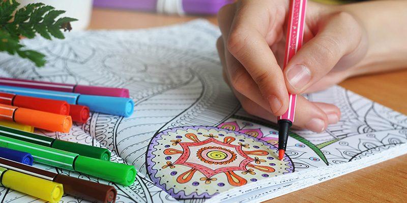 Marque-page mandala à colorier pour enfant, à télécharger gratuitement sur le site