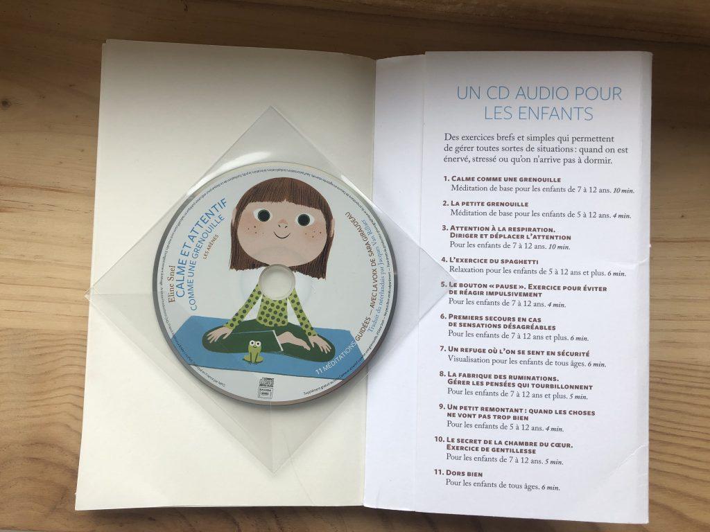 Calme et attentif comme une grenouille, cd de 11 méditations et livre pratique à l'usage des parents programme