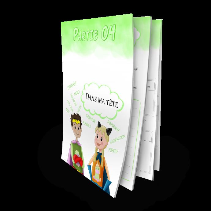 Confiance en soi cahier d'activités Grandir Zen pour enfant 6 à 11 ans partie 4 dans ma tête