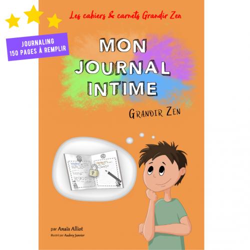 Grandir Zen journal intime pour enfant, activité de journaling et de développement personnel