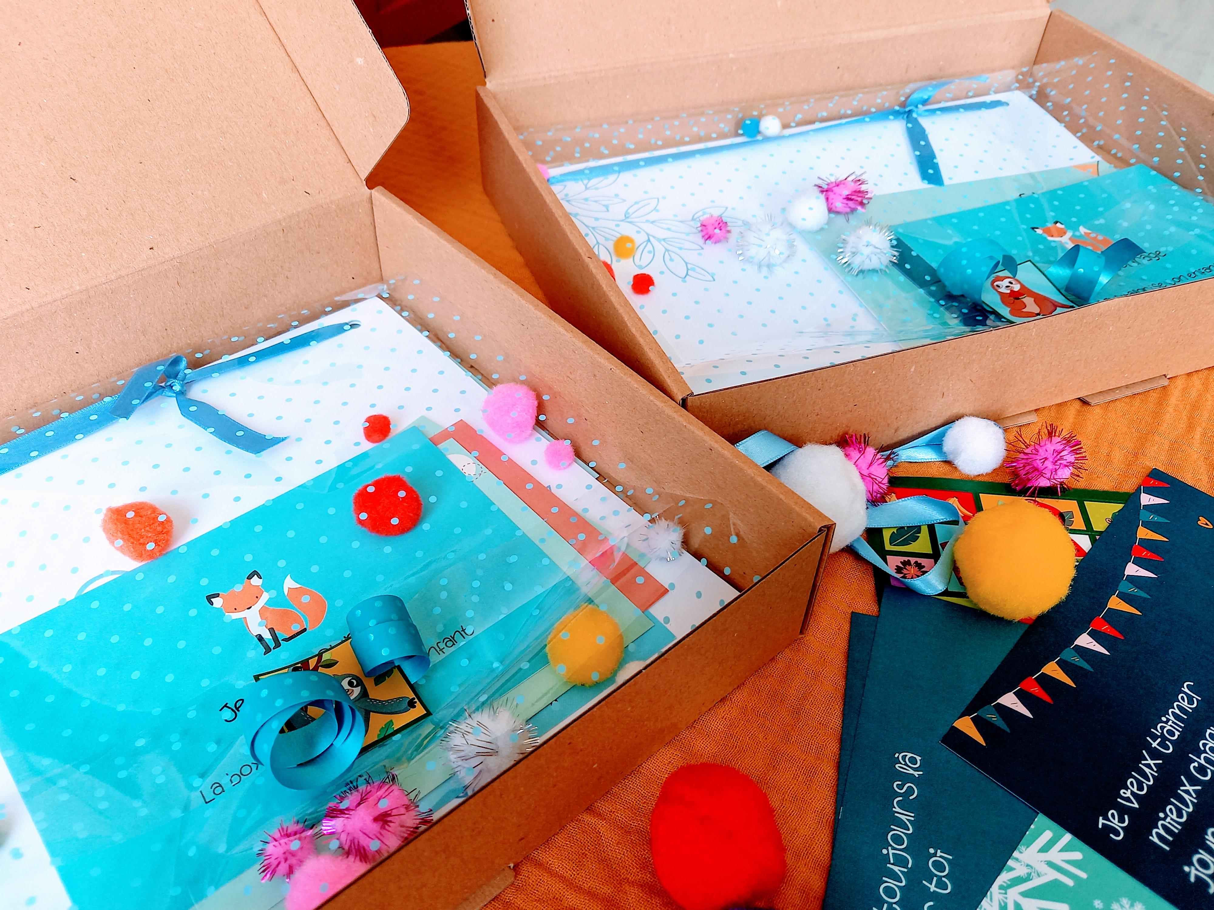 Je t'encourage la box, une box à offrir en cadeau à son enfant pour renforcer sa confiance en soi et son estime de soi