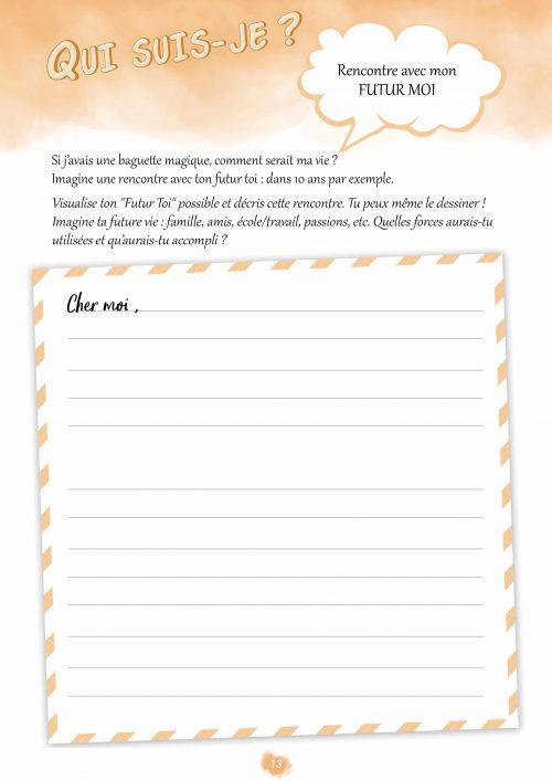 Confiance en soi cahier d'activités Grandir Zen pour enfant 6 à 11 ans. Rencontre avec mon futur moi extrait